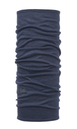 BUFF MERINO WOOL LIGHTWEIGHT SOLID DENIM