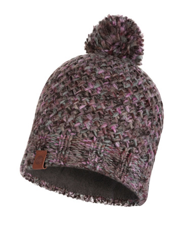 CZAPKA BUFF KNITTED & BAND POLAR HAT MARGO PLUM