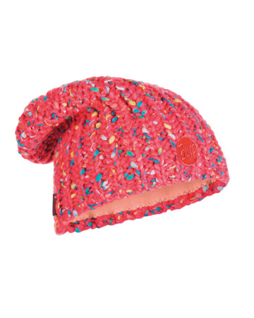 CZAPKA BUFF KNITTED & BAND POLAR HAT YSSIK PINK FLOUR