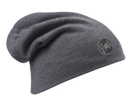 CZAPKA BUFF MERINO  HEAVYWEIGHT HAT Solid Grey