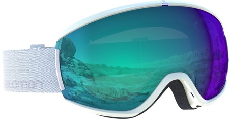 DAMSKIE GOGLE SALOMON 18/19 IVY PHOTO White/All Weather Blue