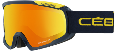 GOGLE CEBE 16/17 FANATIC M Blue - Yellow / Orange Flash Fire