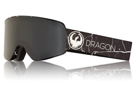 GOGLE DRAGON 17/18 NFX2 JOSSI WELS SIGNAUTUR Dark Smoke + Lumalens Flash Blue