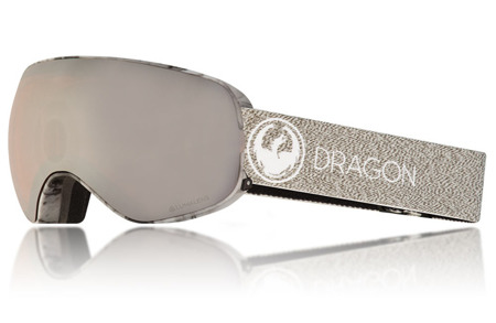GOGLE DRAGON 17/18 NFX2 MILL Lumalens Silver Ion + Dark Smoke