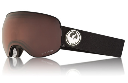 GOGLE DRAGON 17/18 X2 BLACK Lumalens + Brown Polarized
