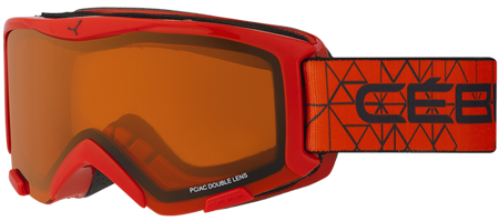 GOGLE JUNIORSKIE CEBE 16/17 BIONIC Red / Orange