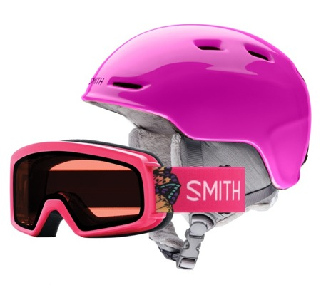 JUNIORSKI KASK I GOGLE SMITH COMBO 18/19 ZOOM + RASCAL Pink