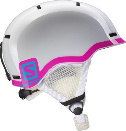 JUNIORSKI KASK SALOMON 17/18 GROM White Glossy/Pink