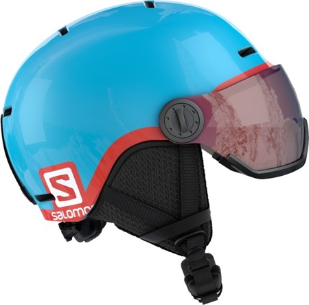 JUNIORSKI KASK SALOMON 18/19 GROM VISOR Blue